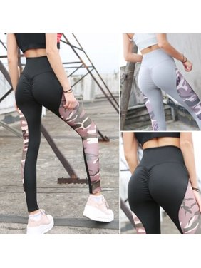 da51105a41e Product Image Sexy Women Slim Soft Comfort High waist Elastic Camouflage  stitching Fitness Leggings Yoga Sweatpants