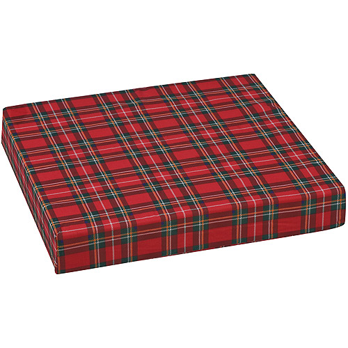 "DMI Polyfoam Wheelchair Cushion, Standard, Plaid, 16"" x 18"" x 3"""
