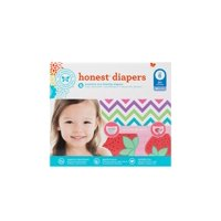 Honest Company Baby Diapers, Size 6, Chevron & Strawberries, 44 Ct