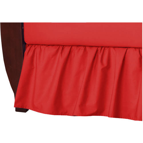 American Baby Company 100 Percent Cotton Percale Crib Bed Skirt, Red