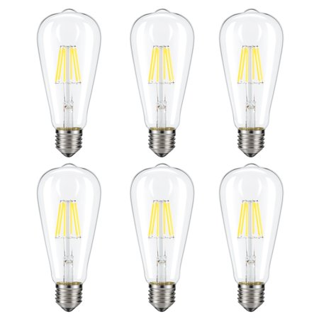 Dimmable Edison LED Bulb, Kohree 6W Vintage LED Filament Light Bulb, 4000K Daylight 60W Incandescent Equivalent, 6 -