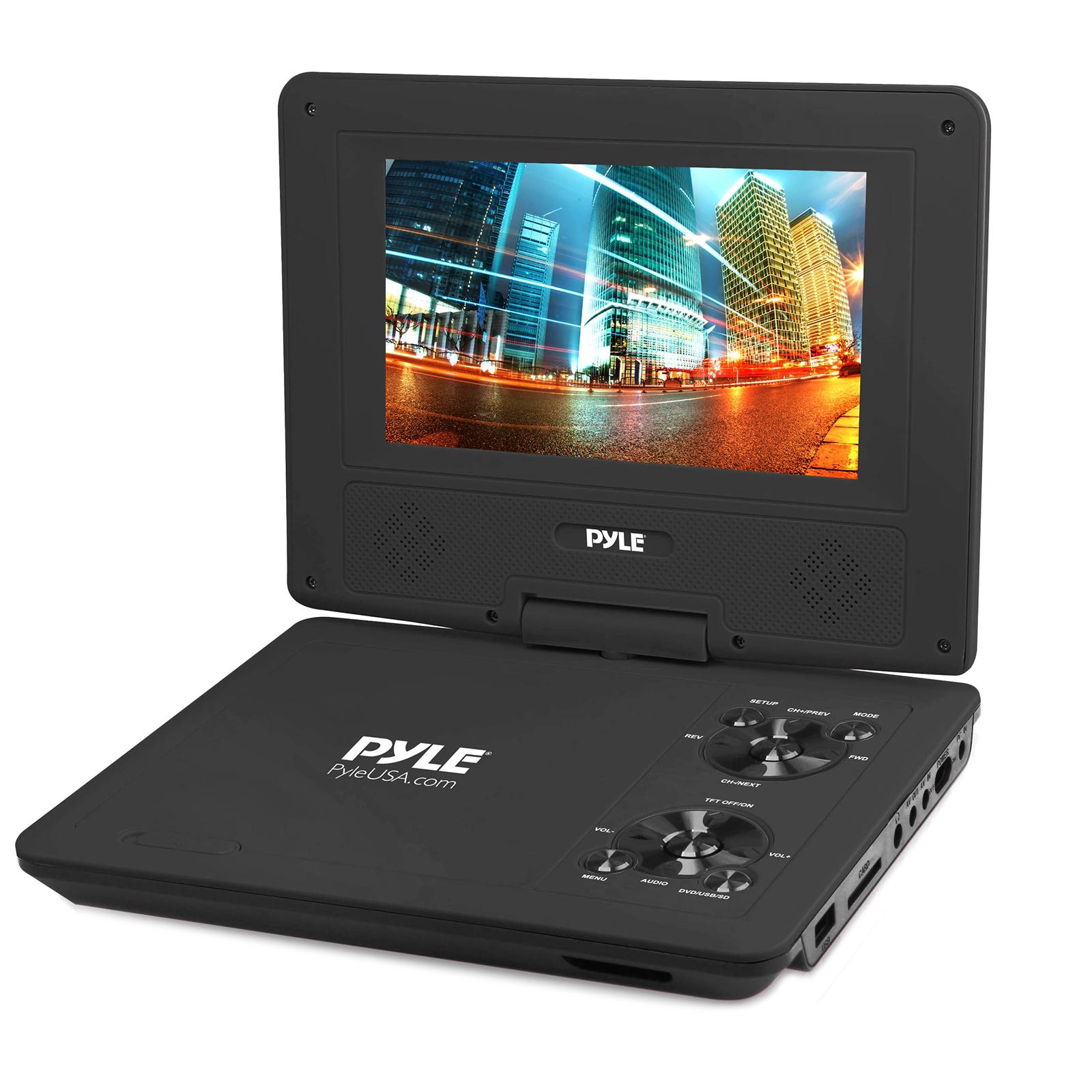 "9"" Portable CD/DVD Player, Built-in Battery, USB/SD Card Memory Readers (Black)"