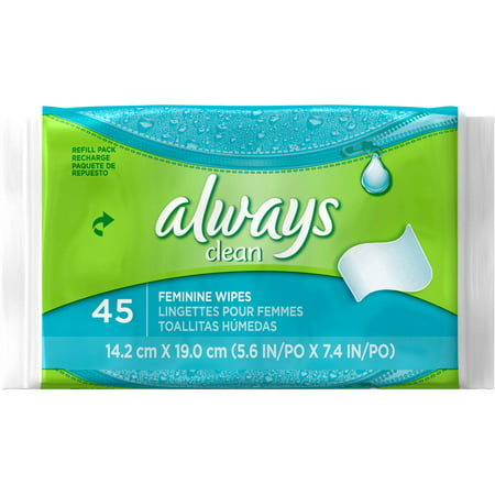 Always Clean Wipes Refill, 45 count
