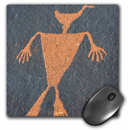 3dRose USA, Utah. Duck Headed Man Petroglyph, Cedar Mesa - Mouse Pad, 8 by (Utah Duck)