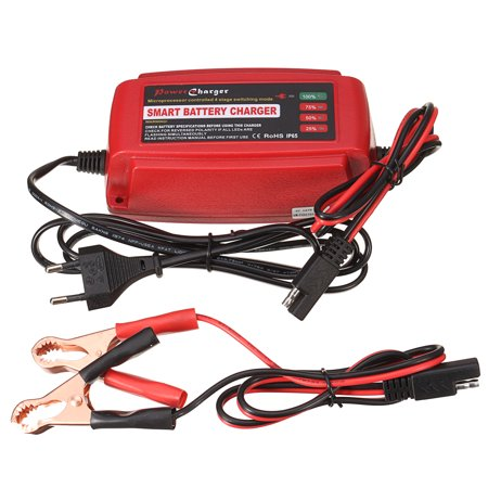 12V 5A Smart Car Battery Charger Maintainer & Desulfator For carbatterycharger Lead Acid Batteries 150x68x54mm