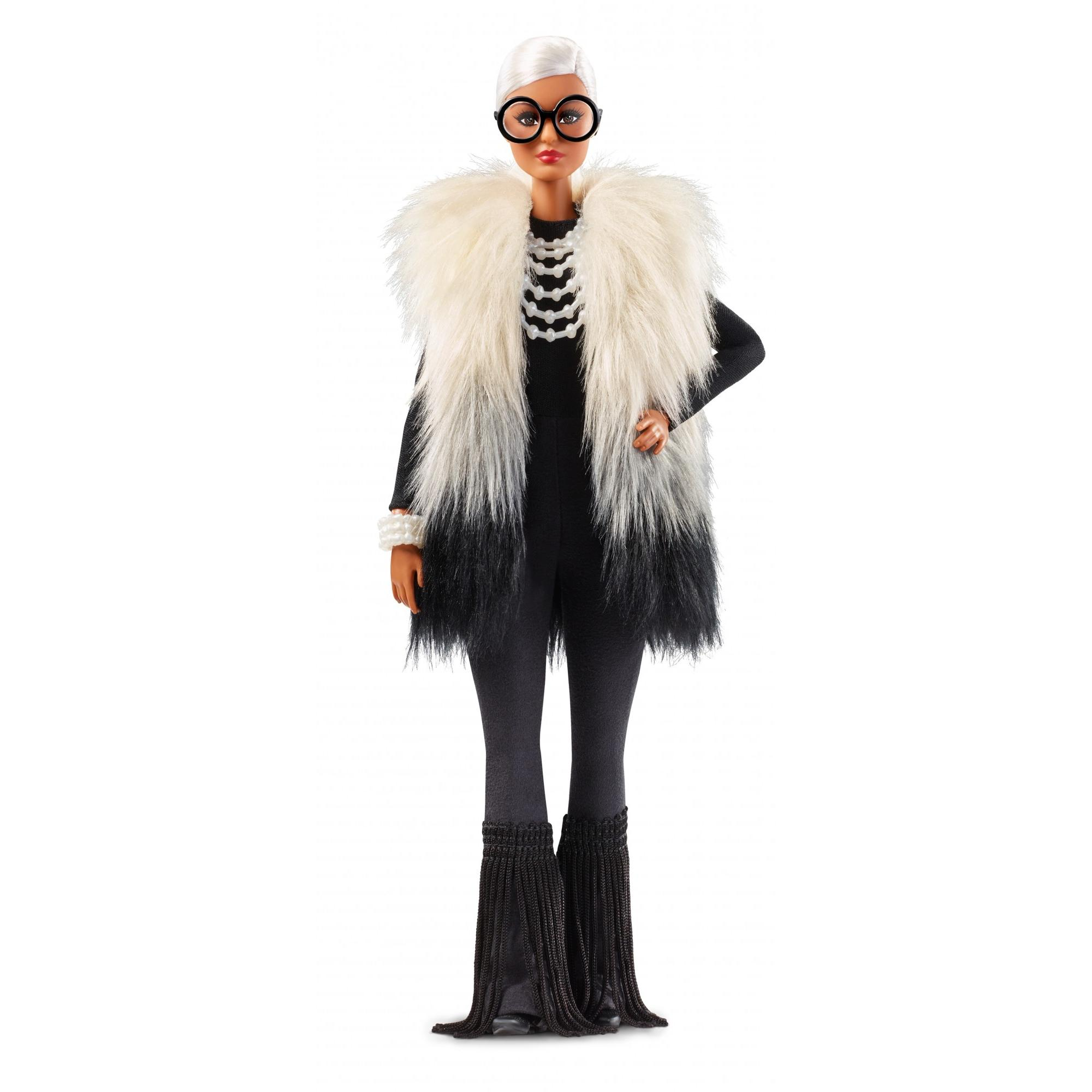 Barbie Collector Styled by Iris Apfel Doll with Multi-Hued Vest and Accessories by Mattel