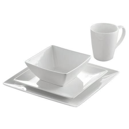 Roscher 32 Piece Pure Square Dinnerware Set Luxurious Practical