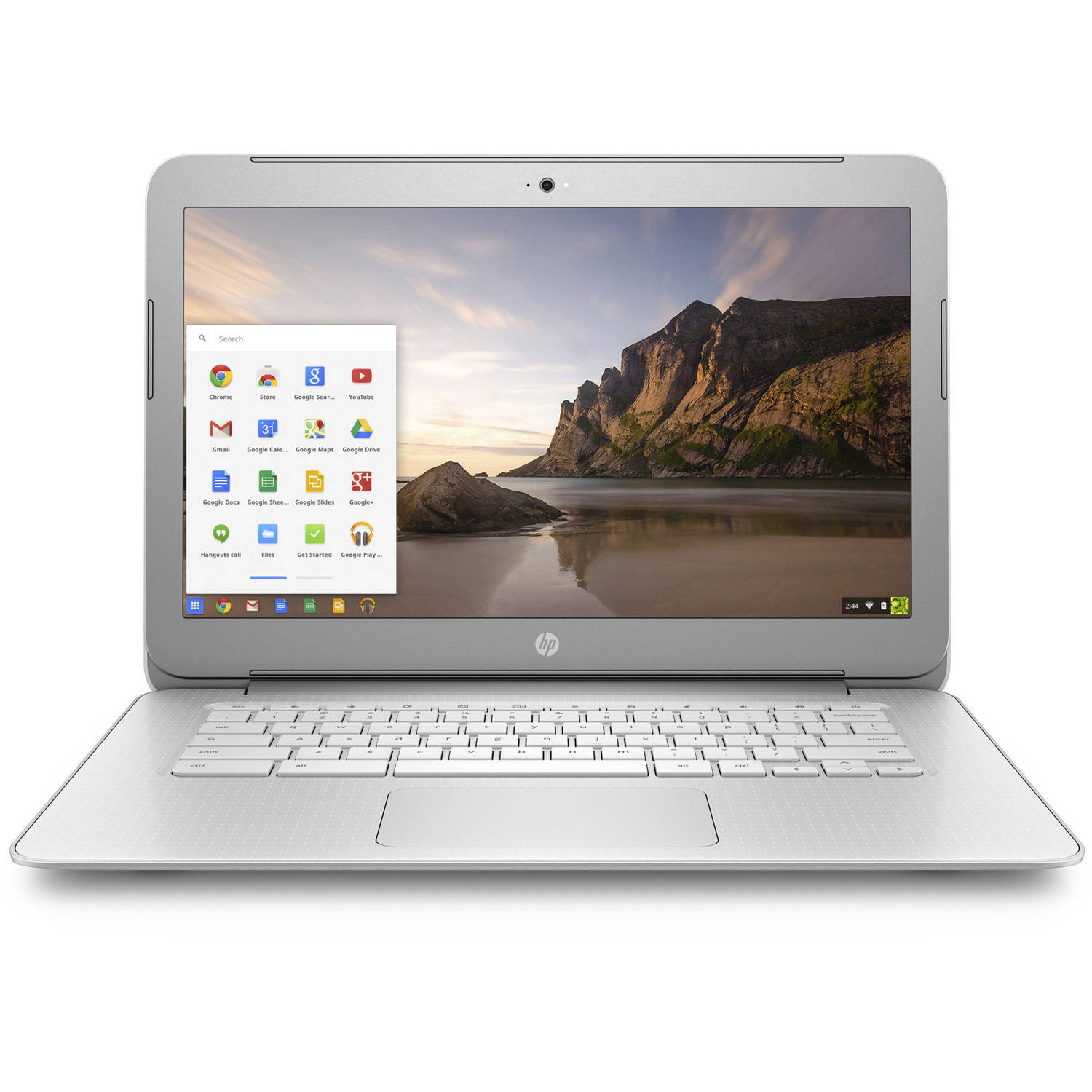 "HP 14"" Snow White/Turbo Silver 14-Ak050Nr Chromebook PC with Intel Celeron N2940 Quad-Core Processor, 4GB Memory, 16GB eMMC Hard Drive and Chrome OS"