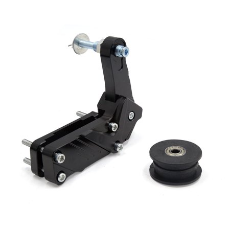Black Aluminum Alloy Motorcycle Scooter Bolt Roller Chain Tension Adjuster Tool