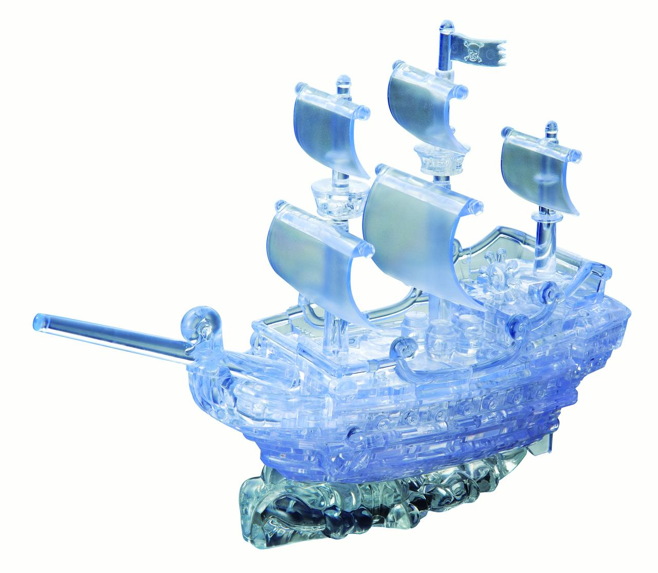 Deluxe 3D Crystal Puzzle Clear Pirate Ship by University Games