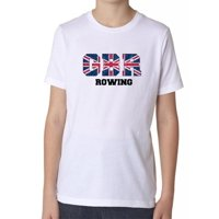 Great Britain Rowing - Olympic Games - Rio - Flag Boy's Cotton Youth T-Shirt