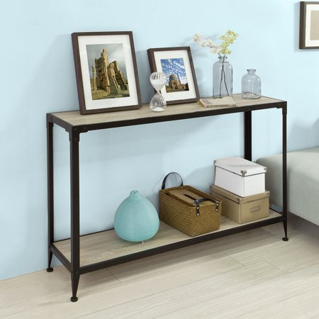 Haotian FSB08-SCH, Console Sofa Table Hall Table with One Shelf, W48 ...