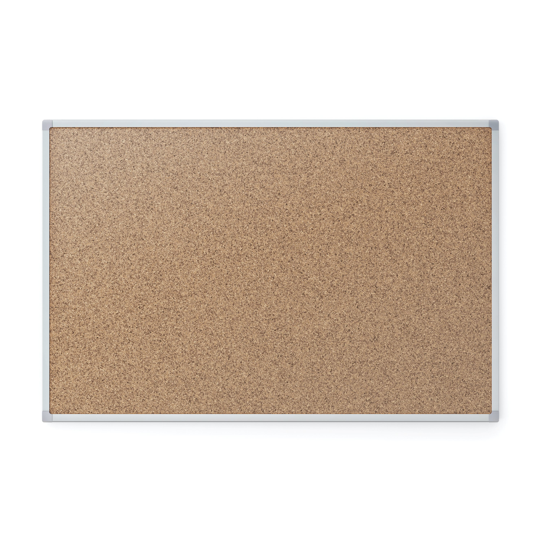 Mead Cork Bulletin Board, Silver Aluminum Frame, 4' x 3', (85362)