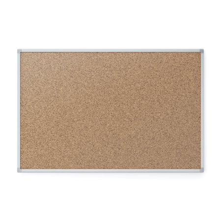 Mead Cork Bulletin Board, Silver Aluminum Frame, 4' x 3', (85362) - Bulletin Board Themes For Halloween