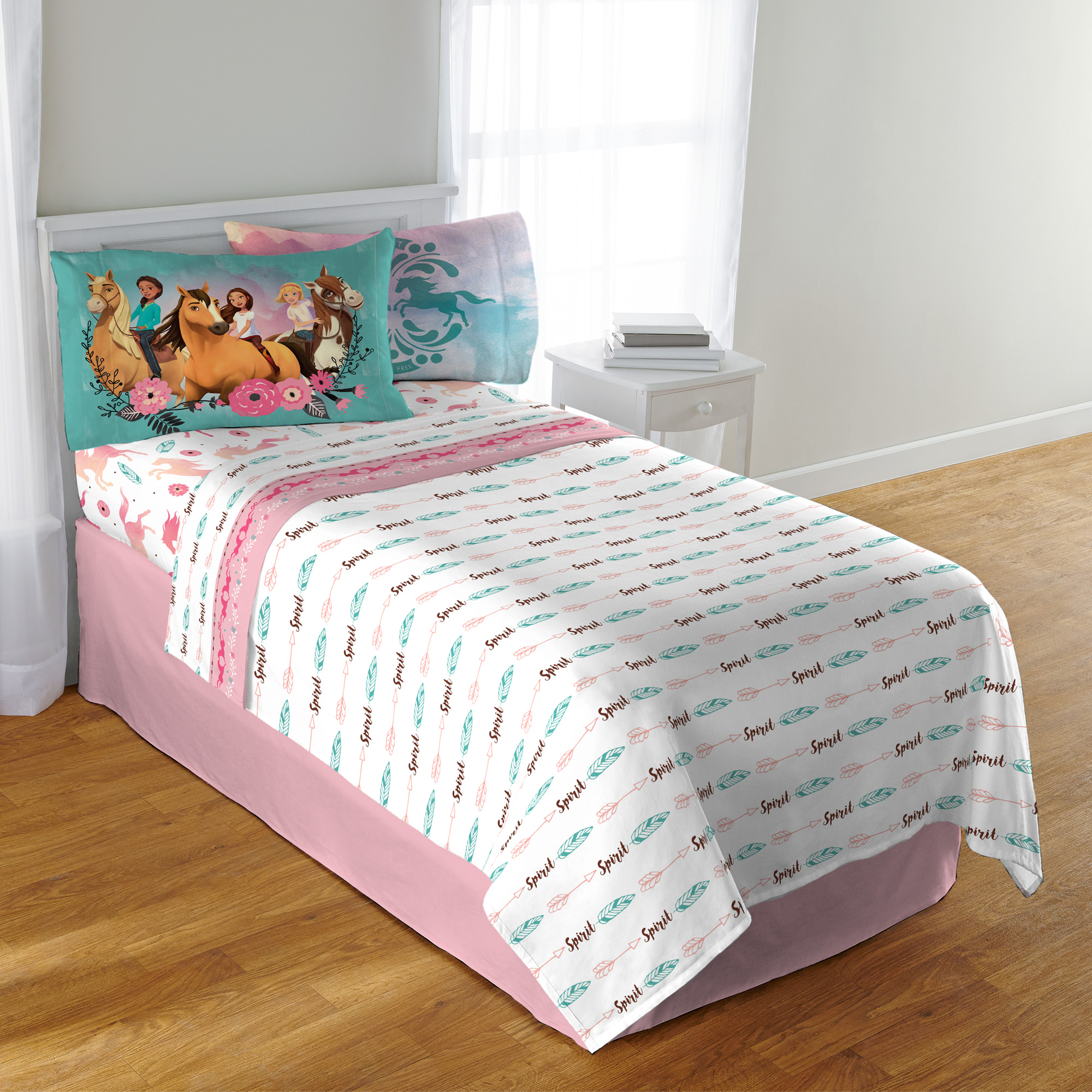 DreamWorks Spirit 'Giddy Up' Kids Bedding Twin Sheet Set, 1 Each