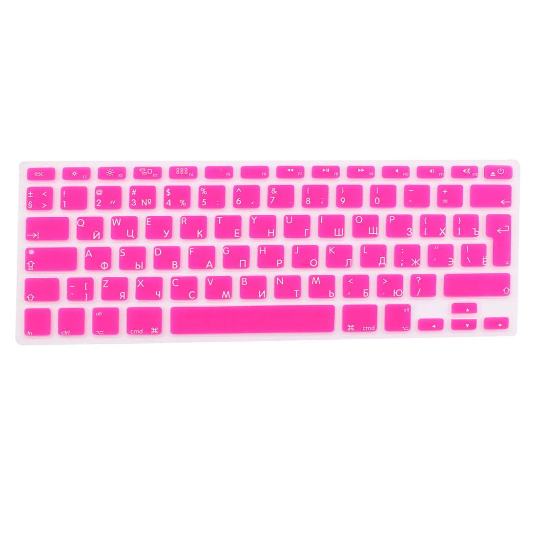 Russian Silicone Keyboard Skin Cover Fuchsia for Apple Macbook Air 13 15 17  EU