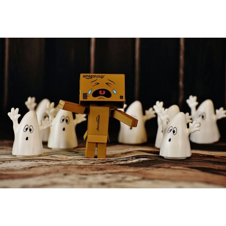 Canvas Print Fear Funny Cry Run Away Ghost Danbo Stretched Canvas 10 x 14 - Cry Of Fear Halloween