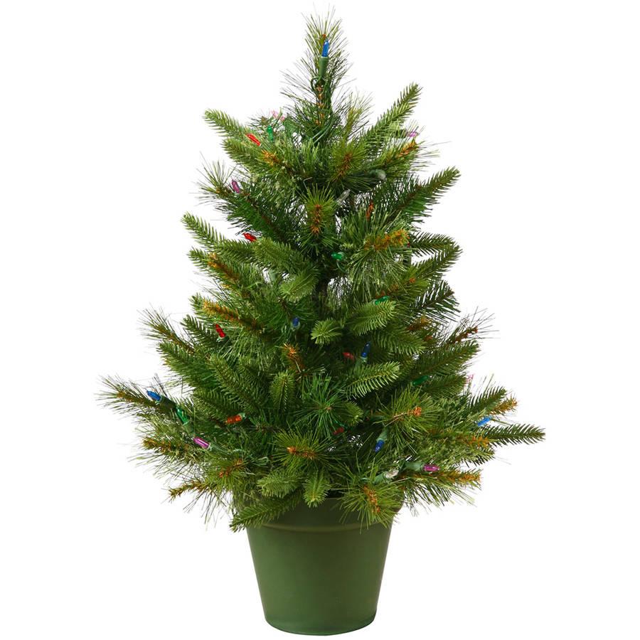 Vickerman Pre-Lit 2' Cashmere Pine Artificial Christmas Tree, LED, Warm White Lights