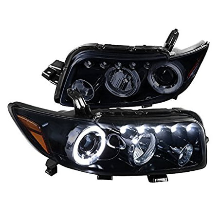 Scion xB Replacement Glossy Black Halo LED Projector Headlights Head Lamps (09 Scion Xb Led)