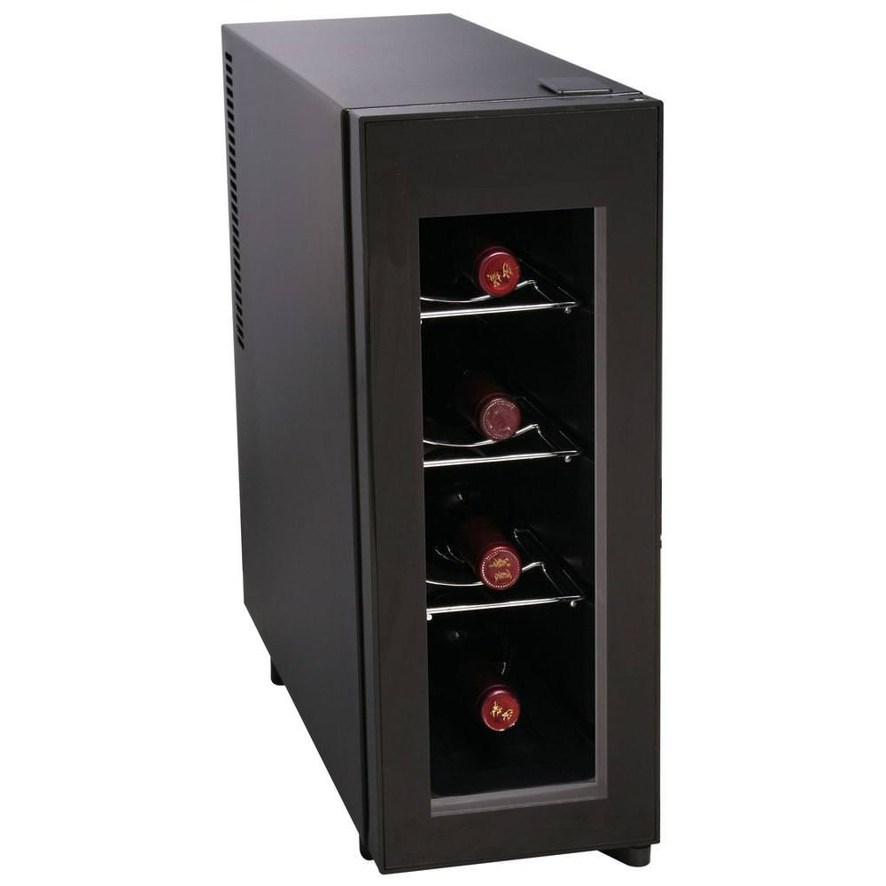 Igloo 4-Bottle Counter-top Wine Cooler with LED Light and Temperature Controls