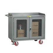 LITTLE GIANT MBP2D-2448-FL Bench Cabinet,24x48,2 Door,Steel Top