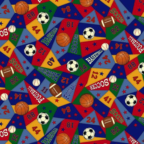 VIP Fabrics Novelty Sport Pennant Fabric