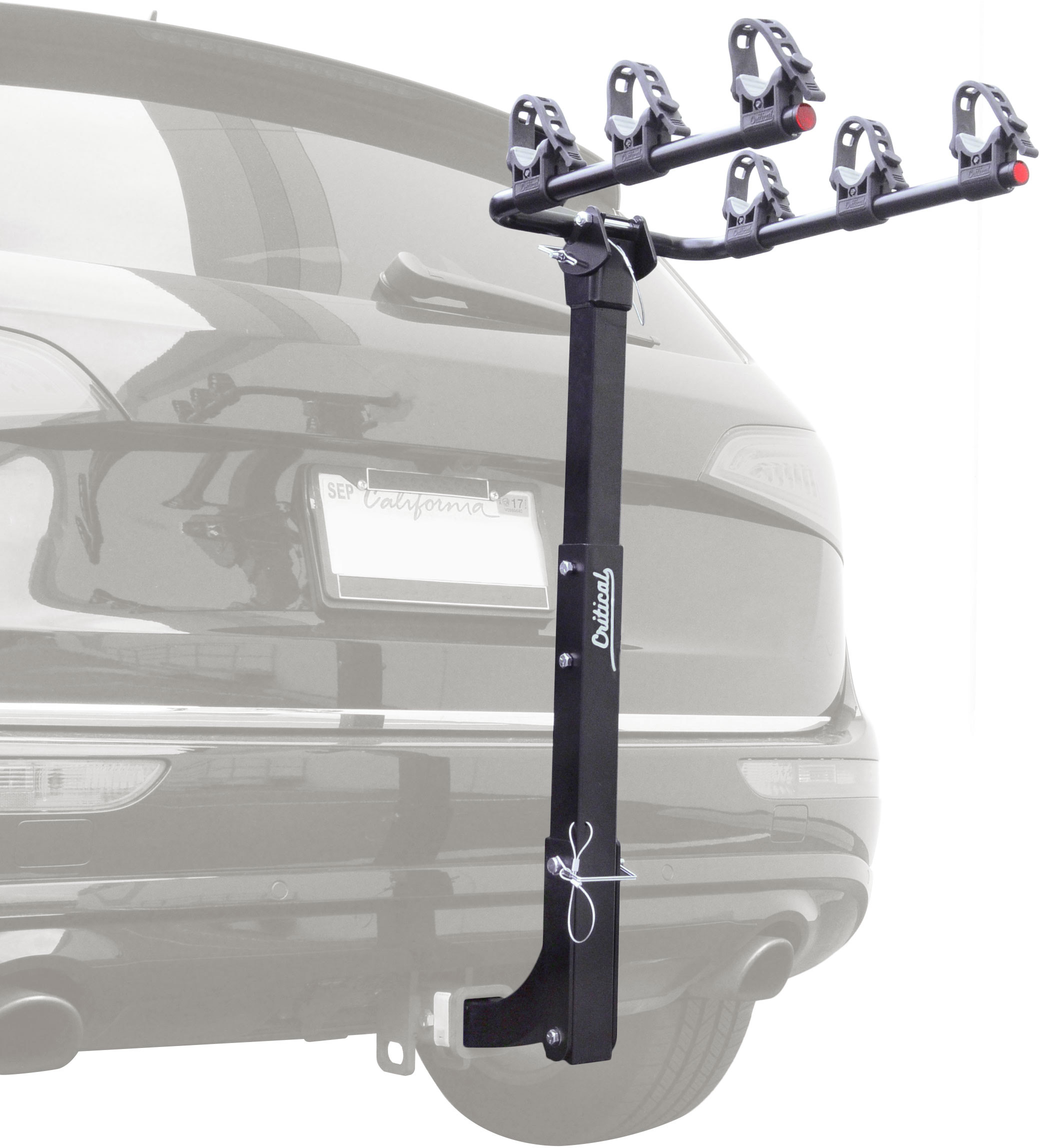 Critical Cycles Lenox 3-Bike Hitch Mount Rack with 2-Inch Receiver by Critical Cycles