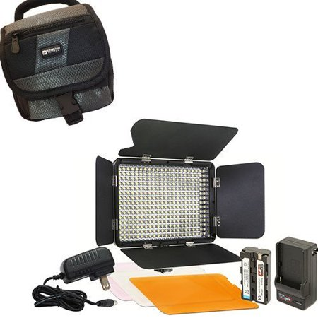 Canon VIXIA HF R62 Camcorder Lighting Vidpro Ultra-Slim LED Light