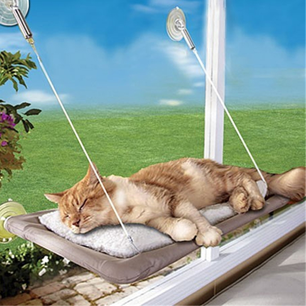 Cat Resting Window Hammock Perch  Kitty Cushion Bed Hanging Shelf Seat Wall Mounted