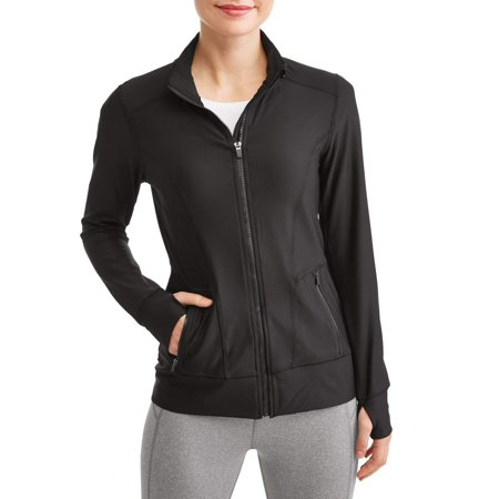 - Women's Active Yoga Mock Neck Zip Jacket