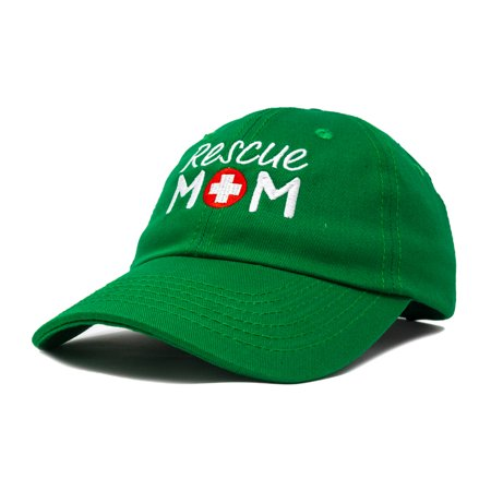 e7df24e3598552 DALIX - DALIX Rescue Mom Womens Baseball Cap Dad Hat in Kelly Green ...