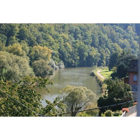 Framed Art For Your Wall River Water Nature Waters Lahn Valley Trees Aue 10x13 Frame