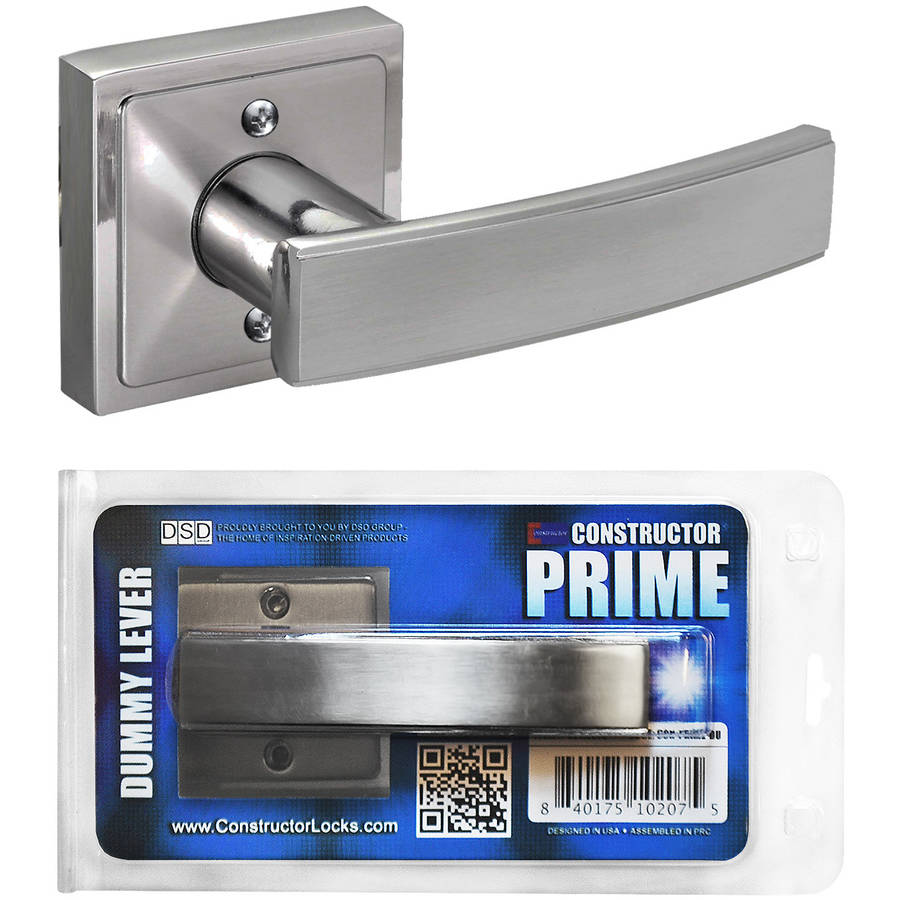 Constructor PRIME Decorative Dummy Door Lever Handle Satin Nickel Finish