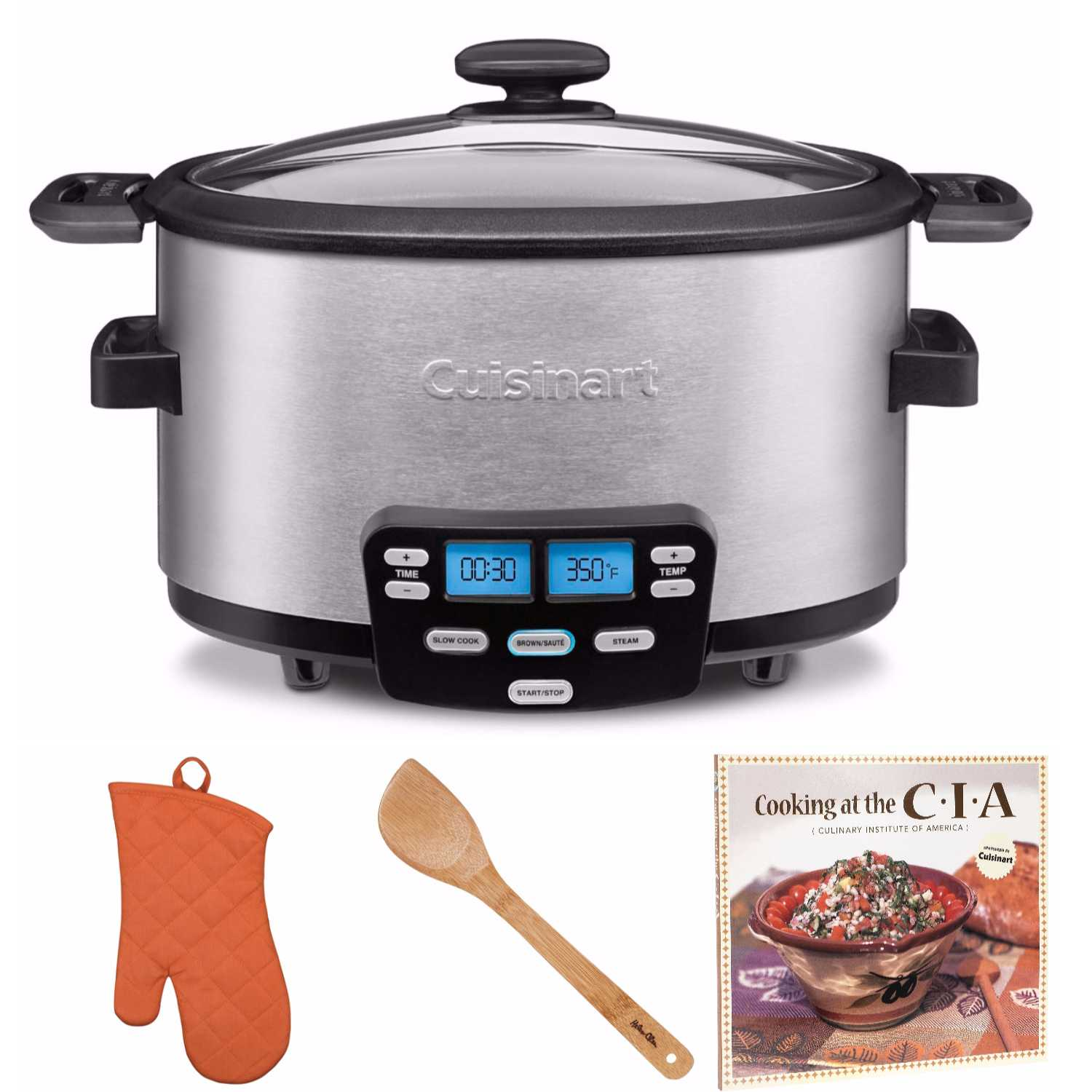 Cuisinart Cook Central 6-Quart Slow Cooker with Cookbook and Kitchen Tools