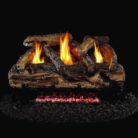- Peterson Real Fyre 24-inch Split Oak Log Set With Vent-free Natural Gas Ansi Certified G9 Burner - Manual Safety Pilot