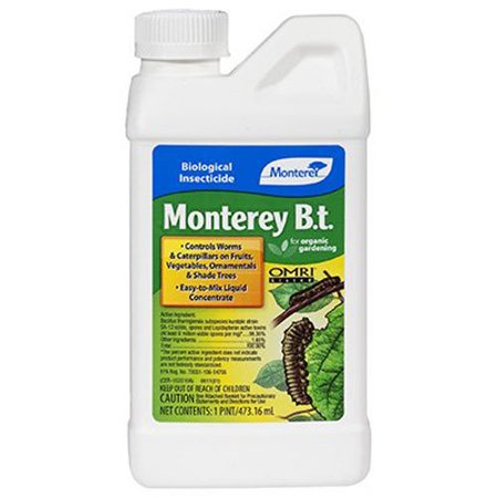 Monterey 704596 Caterpillar Killer Pesticide, 1-Pint, Easy-to-mix liquid concentrate By Monteray