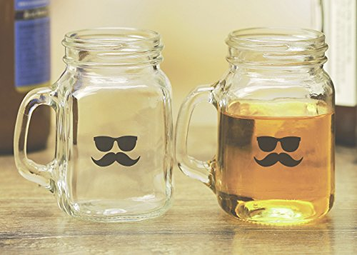 Palais Glassware Mason Jar Shot Glasses Holds 5 Oz Set of 4 (Mr. Tuff) by Palais Glassware