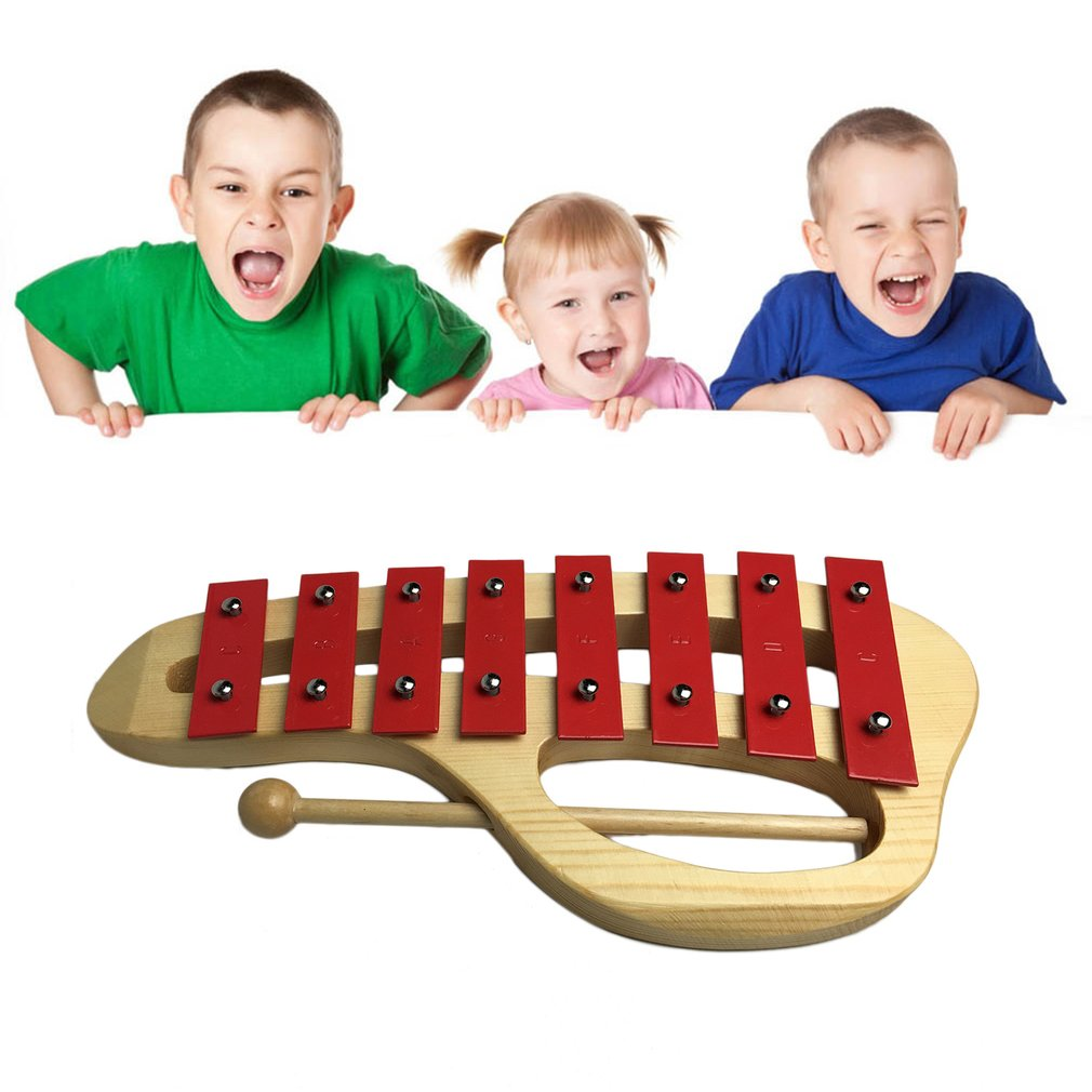 Kids Metal Xylophone Percussion Musical Instrument 8 Notes Musical Teaching by konxa