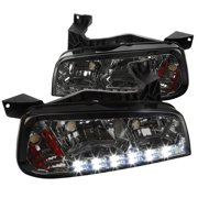 Spec-D Tuning For 2006-2010 Dodge Charger 1Pc Smoke Lens Smd Led Headlights Corner Signal Lamps (Left+Right) 2006 2007 2008 2009 2010