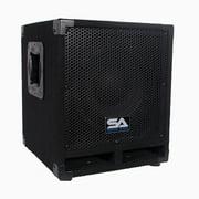 "Seismic Audio Powered 10"" Pro Audio Subwoofer Cabinet PA DJ PRO Audio Band Speaker New 500W - Really-Mini-Tremor"