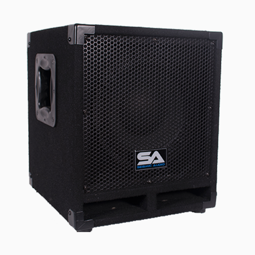 "Seismic Audio Powered 10"" Pro Audio Subwoofer Cabinet PA DJ PRO Audio Band Speaker New 500W - Really-Mini-Tremor"