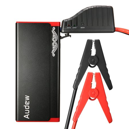 AUDEW 13800mAh Car Jump Starter Battery Jump Starter Battery Booster 500A, Battery Jumper Portable Charger with LED Light For Heavy Duty Trucks, SUV, Compact Cars And (Best Portable Motorcycle Jump Starter)