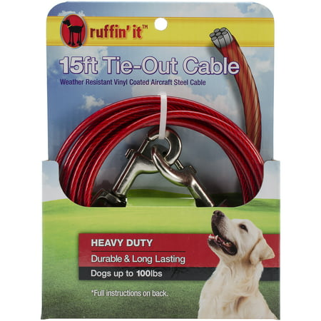Heavy Duty Cable Tie Out, 15'