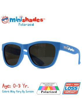 Minishades Polarized: Flexible Toddler Sunglasses - Baby Blue  UVA/UVB  Hide n' Seek Replacement   Age: 0-3Yr.