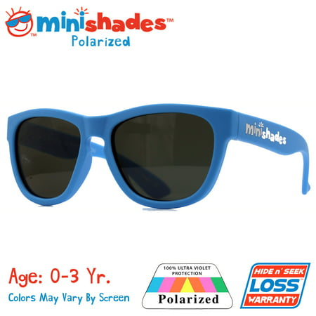 Minishades Polarized: Flexible Toddler Sunglasses - Baby Blue |UVA/UVB| Hide n' Seek Replacement | Age: (Polarized Baby Sunglasses)