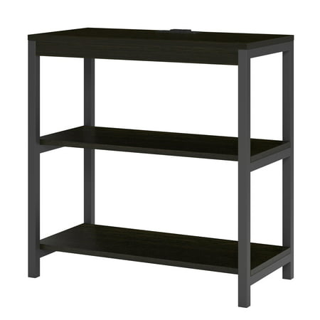 Ameriwood Home Nickle Creek 3 Shelf Bookcase, Rustic Medium Oak