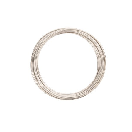 - Large Memory Wire for Necklace Silver Plated Stainless Steel Wire 20ga/0.7dia. 125mm/1.95in Round Sold per pkg of 30Gram/18 Loops