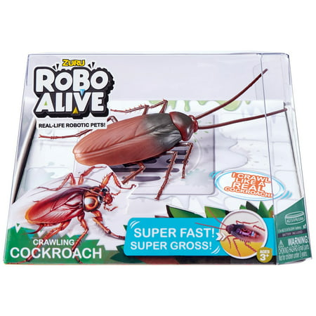 Robo Alive Crawling Cockroach Battery-Powered Robotic Toy by