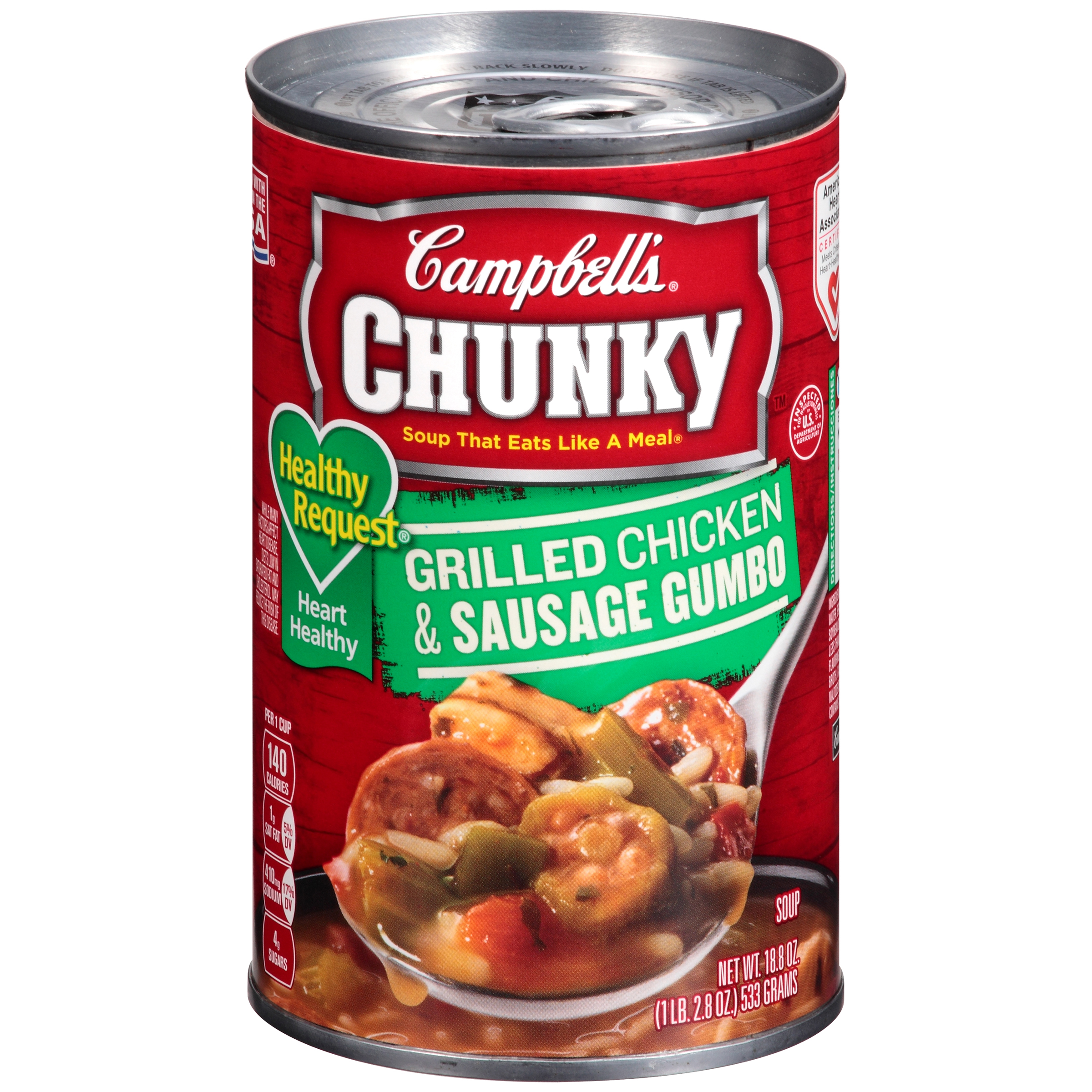 Campbell's Chunky Healthy Request Grilled Chicken & Sausage Gumbo Soup 18.8oz