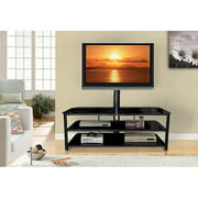 Innovex Stanford Glass Black TV Stand for TVs up to 55""